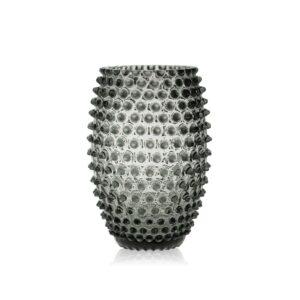 Grey Smoke Egg Hobnail Vase