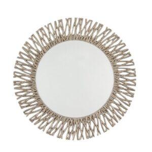 Round Mirror Champagne Silver Leaf